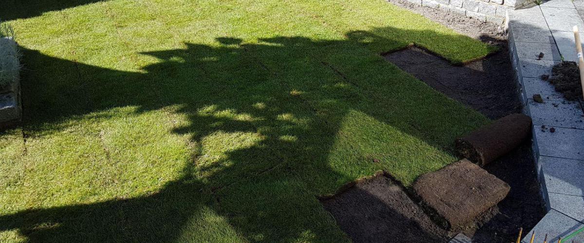 Aanleggen graszoden